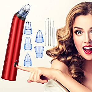Limpiador de Poros, Eliminador de Puntos Negroscon 4 Cabezales Intercambiables Máquina Multifuncional de Limpiar Poros…