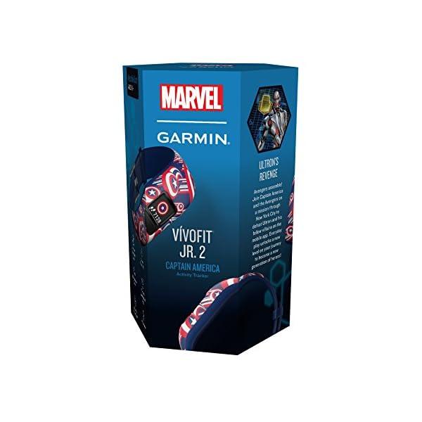 Garmin Vívofit Jr. 2 - Monitor de actividad para niños, Captain America (Banda elástica), Edad 6+ 13