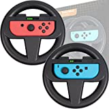 Orzly 2*Volants pour Nintendo Switch - 2* Volant NOIR pour les manettes Joy-Cons de la console Nintendo Switch (2017) - TWIN PACK