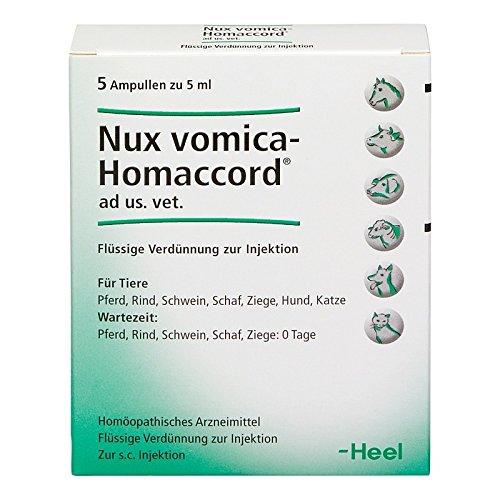 nux vomica homaccord ampullen vet. 5 St -