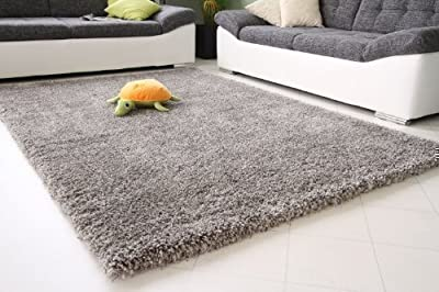 Shaggy Rug 11 Colours 963 Plain 5cm Thick Soft Pile Modern 100% Berclon Twist Fibre Non-Shed Polyproylene Heat Set - low-cost UK light store.