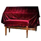 nuzamas Samt Piano Staub Abdeckung und Klavier Doppel-Hocker Extra Starkem Schutz gegen Staub und Kratzern (Deep Red)