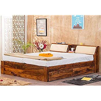 Furny Oberoi Teak Wood King Size Bed With Storage Teak From Ghana 20 Years Life With Furny Assurance Termite Bore Treated Customization Emi
