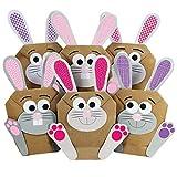 12 DIY Osterhasen zum selber Basteln und Befüllen - EIN Geschenk von Herzen - zu Ostern Osterhase - rosa - für Mädchen