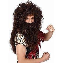 Atosa  - C/pvc peluca larga cavernicola c. barba