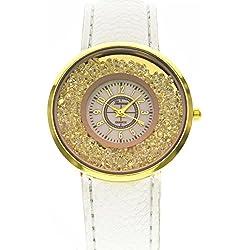 Geneva Platinum Crystal Dial Analog White Dial Women's Watch - GP-270