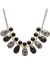 JDX Black Crystal Morden Necklace For Women And Girls