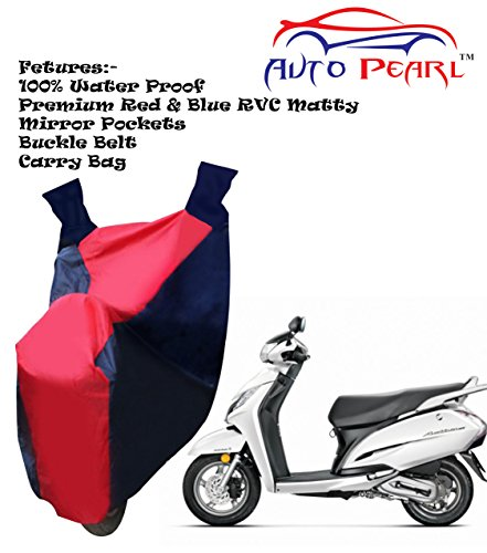 100% water proof pvc bike body cover with mirror pockets, buckle belt, carry bag - honda activa 125 100% Water Proof PVC Bike Body Cover With Mirror Pockets, Buckle Belt, Carry Bag – Honda Activa 125 51TOSO1LmVL