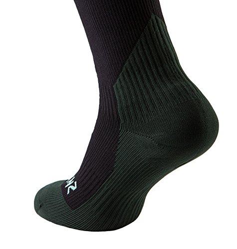 SealSkinz 99Trekking-Socken Wasserdicht mittlere Dicke XL Black/Racing green