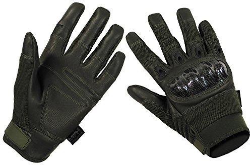 MFHHighDefence Tactical Handschuhe, Mission Oliv - XXL