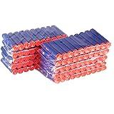 ULTNICE 100 piezas Foam EVA dardos de ventosa recargado balas Blaster para Nerf Elite niños juguete pistola fluorescentes brillan en la Dark(Blue)