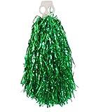 Dual Circular Hole Asa Abeto Cheerleader Pompones Cheer Pompones Verde