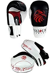 14 oz Pro Guantes de boxeo y almohadillas enfoque puesto ★ MMA Muay Thai UFC Puñetazo entrenamiento de la aptitud ★ Valour Strike®