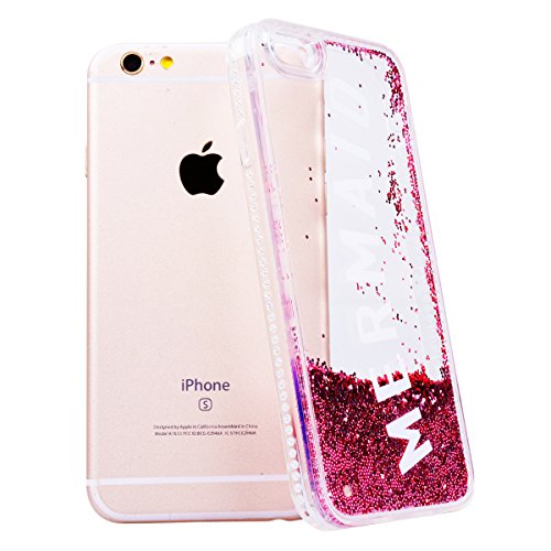 WE LOVE CASE Coque iPhone 6, Coque Diamante Bling Sparkle Brillant Glitter de Protection en Premium Hard Plastique Dur Coque iPhone 6S Anti Choc Bumper, Anti-Rayures Anti-dérapante Coque Apple iPhone  Sirène