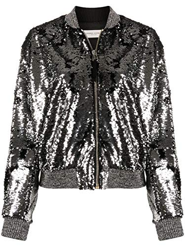 Golden Goose Luxury Fashion Damen G36WP069A1 Silber Jacke | 5