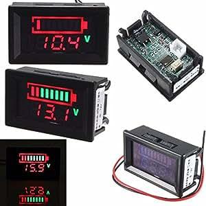 elegiant digitale 12v s ureblei batterien indikator led akku kapazit t tester voltmeter acid. Black Bedroom Furniture Sets. Home Design Ideas
