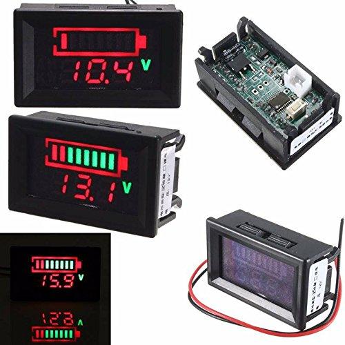 ELEGIANT Digitale 12V Säureblei Batterien Indikator LED Akku Kapazität Tester Voltmeter Acid Lead Batteries LED Indicator Battery Capacity Tester Voltmeter (Voltmeter Batterie)