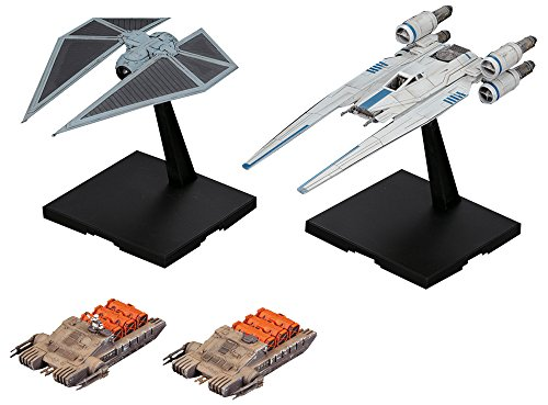 Bandai BAN212184 - Star Wars U-Wing Fighter & TIE-Striker 1/144 Plastic model ()