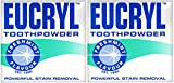 x2 Eucryl Smokers Tooth Powder Freshmint Flavour 50g