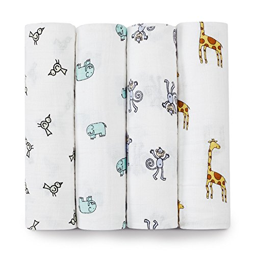 aden + anais 2026G Classic Swaddle Jungle Jam, 4er pack