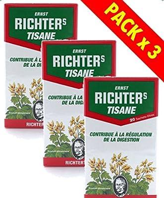 Tisane Richter's - Lot de 3 boîtes de 20 sachets Infusion
