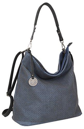 Damen Tasche Schultertasche Große Umhängetasche in 5 Farben Handtasche für Frauen Sommer Design Crossbody (3126) (Blau) (Garderobe Für Frauen)
