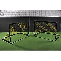 Fußballtor POP UP - 2 Größen zur Auswahl - 2er Set - faltbares Garten Fußballtor für Kinder in schwarz/gelb von POWERSHOT®