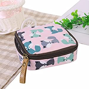Honel Waterproof bulk zipper sanitary napkin aunt towel cosmetic storage bag purse