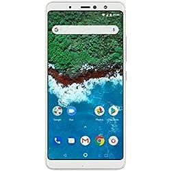 """BQ Aquaris X2 Pro - Smartphone de 5.65"""" (Wi-Fi, 4 GB de RAM, Memoria Interna de 64 GB, Bluetooth 5.0, Dual cámara 12 MP y 5 MP, Android 8.1.0 Oreo), Color Glaze Blanco"""