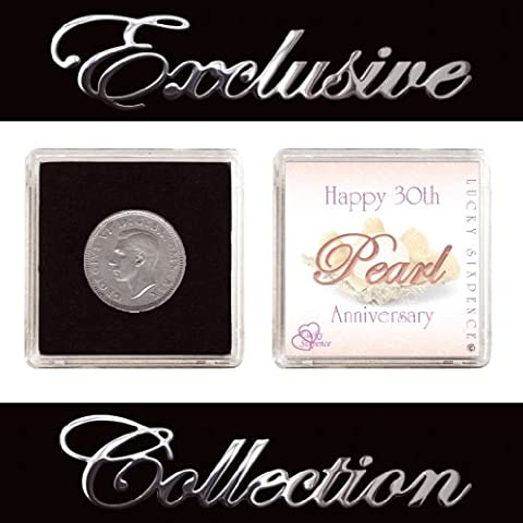 LUCKY SIXPENCE FOR 30TH PEARL WEDDING