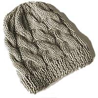 Berretto cappello lana trecce a maglia a84ab8cd3762
