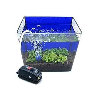 Artans(TM) New 220-240V 3W Mini Aquarium Oxygen Pump for Fish Turtle Tank Cooling Air Pumps Silent Adjustable Airpump Aquariums Accessories