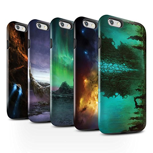 Offiziell Chris Cold Hülle / Glanz Harten Stoßfest Case für Apple iPhone 6 / Elektro-Sturm Muster / Fremden Welt Kosmos Kollektion Pack 12pcs