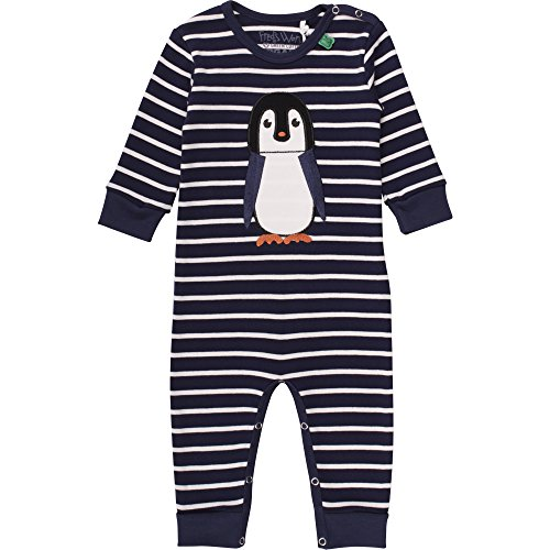 Fred'S World By Green Cotton Penguin Stripe Bodysuit, Body Bébé garçon, Bleu (Navy 019392001), 3 Ans