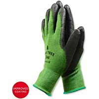 Bamboo Working Gloves for Women & Men. Ultimate Barehand Sensitivity Work Glove for Gardening, Fishing, Construction and Restoration Work & More. Breathable by Nature! – S,M,L,XL (1 Pack)