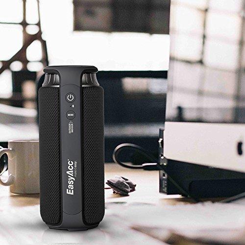 EasyAcc SoundCup 20W Treiber Bluetooth 4.1 Spritzwassergeschützter tragbarer Lautsprecher Subwoofer mit großartigen Höhen und Superbass, mit Aussen- und Innenmodus, empfindliches Touch-Panel, Schwarz - 5