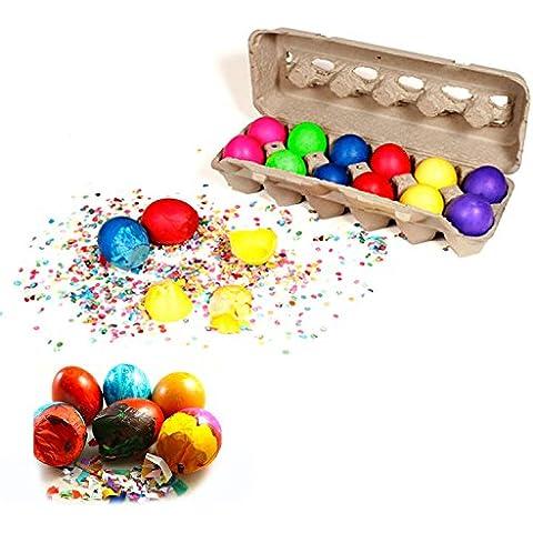 Cascarones Confetti Eggs -- 12 Eggs by Cascarones Confetti Eggs