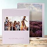 Fotobuch edel, Fotobuch Trio I 28 Seiten, 14 Blatt, Hardcover 234x296 mm personalisierbar, Violett