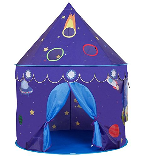 KAKIBLIN Space Castle Play Tents for Kids,House with Storage Case for Indoor and Outdoor Use,Strong,Durable,Lightweight Safe and Portable(Purple)