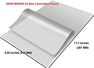 XEON Professional Thermal Laminating Pouch Film(A4) Pack of 100pcs: Clear Film 125 Micron