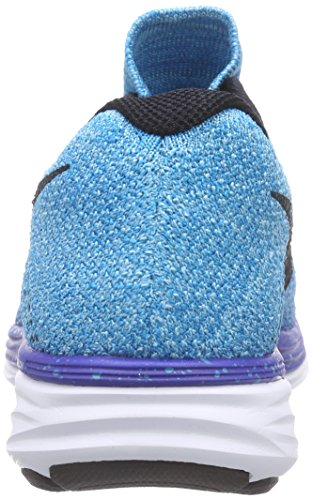 Nike  Flyknit Lunar3, Chaussures de course femmes Bleu - Blau (Gm Royal/Blk-N Trq-Unvrsty Bl 403)