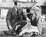 Moviestore Patrick McGoohan als Andrew McDhui unt Susan Hampshire als Lori MacGregor in The Three Lives of Thomasina 25x20cm Schwarzweiß-Foto
