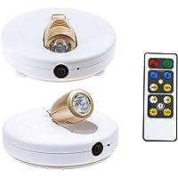 HONWELL Projecteur à piles à LED pour Plafonniers/Murs/éclairage de Placard/Couloir, éclairage Télécommandé, Applique…
