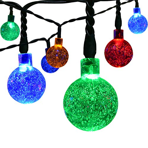 Solar Outdoor Lichterkette ICOCO 6 Meter 30 LEDs Wassertropfen Solarbetrieben Lichterkette Wasserfest Weihnachten Dekoration für Garten, Terrasse, Hof, Haus, Weihnachtsbaum, Feiern