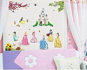 Himani Decors Cute Princess Barbie Disney Cartoon PVC Vinyl Wall Sticker for Kids Room Wall Decal (110 cm X 85 cm)