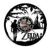 YUN Clock@ Wanduhr aus Vinyl Schallplattenuhr Upcycling 3D The Legend of Zelda 4 Design-Uhr Wand-Deko Vintage 3D Familien Zimmer Dekoration Kunst Geschenk, Durchmesser 30 cm