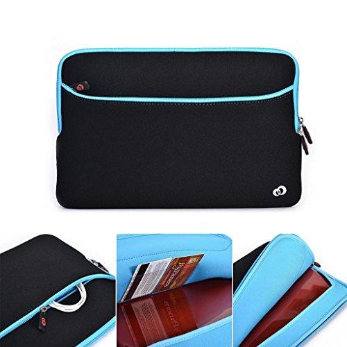 Kroo 39,6cm Notebook Laptop Schwarz Neopren Sleeve mit Große Tasche Fach für Zubehör Passt Acer TravelMate P4554. Gen./P253/Aspire E5–471P blau schwarz und blau