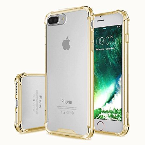 "First2savvv bleu iPhone 7 Plus 5.5"" Absorbant les chocs Coque Housse Silicone Case Cover Transparent Crystal Clair Soft Gel TPU -XJPJ-I7-5.5-B03 jaune"