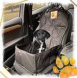 Bee more dog 2-in-1 Hund Autositzbezug als Hundekorb oder Schondecke für Vordersitz, abwaschbarer und rutschfester Sitzbezug mit Gurt für alle Autos