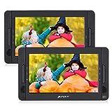 Pumpkin Lettore dvd auto portatile bambini poggiatesta con doppio 10.1'schermo, supporta usb/sd/mmc, supporta regione free